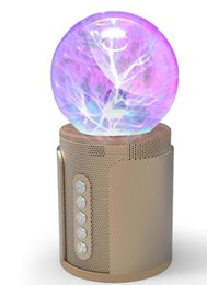 Wholesale Ion Bluetooth - P2 magic ball nightlight touch wireless Bluetooth speaker soundcard colorful light SP2 negative ion induced current subwoofer card DHL fast