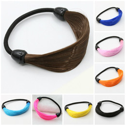 Wholesale Hair Wrap Jewelry - Hairpin Korean Hair Rope Ring Elastic Braided Wrap Hairband Fastening Accessories Headwear Ponytails Holder Hair jewelry