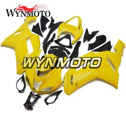 2019 carenado amarillo zx 6r Carenados de motocicleta para Kawasaki ZX-6R ZX6R 2007 2008 07 08 ABS Inyección de plásticos Marcos de motocicleta Cascos de carrocería completos amarillos carenado amarillo zx 6r baratos