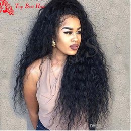 Wholesale Brown Hair Celebrities - Curly Human Hair Lace Wigs Glueless Celebrity Virgin Hair Malaysian Curly Wig For Black Women 150 Density Full Lace Curly Human Hair Wig