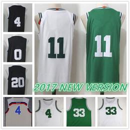 Wholesale Boys Baseball Jersey Black - 2017 NEW with Name Brand 11 KYRIE IRVING THOMAS TATUM HAYWARD BIRD Stitched Swingman Throwback jerseys Sport Jersey