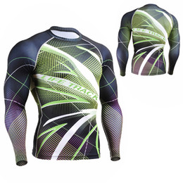 Wholesale Rash Shirts - Wholesale-Men`s Long Sleeve Second Skin Rash Guards Compression Tights Multi-use Quick Dry Fitness Bodybuilding Running Yoga Shirt S-4XL