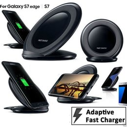 Wholesale Smart Dock Galaxy - Qi Wireless Charger 5V 2A Smart USB Quick Fast Charging Dock for Samsung Galaxy S8 G9500 G9300 S6 S7 Edge Note 8