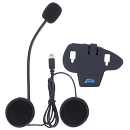Wholesale Helmet Bluetooth Interphone - Original V8 accessories,earphone & microphone and clip suitable for car V8 motorcycle helmet interphone bluetooth intercom