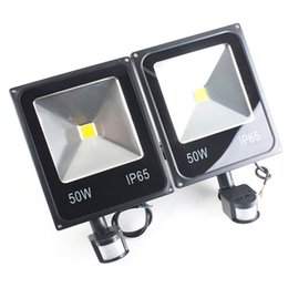 Wholesale Outside Security - Garden Wall Door Housing Outside Security PIR Motion Sensor Floodlights LED PIR Lights Outdoor Flood Lights 10W 20W 30W 50W AC85-265V