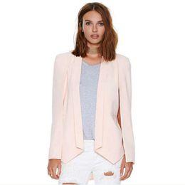 Wholesale Buckle Vests - New Summer Big-Name Elegant Raglan Sleeve Suits Jacket Female Irregular No Buckle Small Suit Fashion Small Suit Vest Female