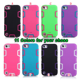 Wholesale Football Covers - Hybrid Armor 3 in 1 Hard PC Silicone GEL Case High Impact Robot Football Defender Ballistic For Apple Ipod Touch6 Touch 5 6 6TH Cover Luxury