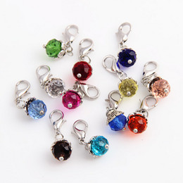 Wholesale Charmed Memories Beads - 20pcs lot Free Shipping 12 Mixed Crystal Beads Floating Locket Charms Pendant For Glass Living Memory Locket