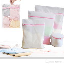 Wholesale Mesh Machine - Factory Price!! 30*40CM Washing Machine Specialized Underwear Washing Lingerie Bag Mesh Bag Bra Washing Care Laundry Bag in Best quality
