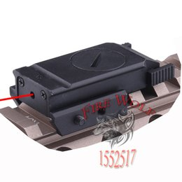 Wholesale red gun laser - 1 set Tactical Red Dot Mini Red Laser Sight Scope with tail switch for Gun Rifle gun with optical hunting