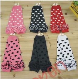Wholesale Polka Dots Tights For Girls - Wholesale Ruffle Baby Leg Warmers Polka Dots Cotton Infant Toddle Leg Warmers For Girls boys Kids Tight mix Colors