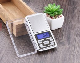 Wholesale Mini Digital Scale Grams - Mini Electronic Digital Scale Jewelry weigh Scale Balance Pocket Gram LCD Display Scale With Retail Box 500g 0.1g 200g 0.01g