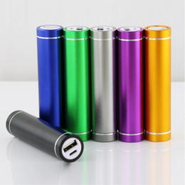 Wholesale Portable Power Supplies - 50pcs Fashionable aluminum Lipstick 2600 mAh Power Bank Portable Backup External Battery USB Mobile charger Mobile Power Supply