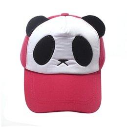 Wholesale Panda Caps Mesh - Practical Design Panda Pattern Baseball Cap Unisex Men And Women Summer Snapback Caps Casual Casquette Hats Cute Mesh Hat