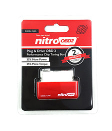 Wholesale Wholesale Nitro Engines - NitroOBD2 Diesel Car Chip Tuning Box Plug and Drive Nitro OBD2 Performance For Diesel Cars 1996--