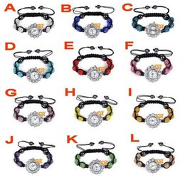 Wholesale Shamballa Supplies - Available Supply Fashion New Shamballa Crystal Disco Ball Bling Bracelet Girls Gift Wrist Watch Free shipping