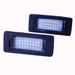 Wholesale Bmw Front License Plate - 2x High Power Error Free 24 SMD LED License Plate Light Lamp For BMW E39 E60