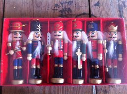 Wholesale China Curtains Wholesale - wholesale 6pc set Creative character Home Furnishing ornaments gifts 12CM Nutcracker puppet soldiers birthday gift to Zakka bar decoration