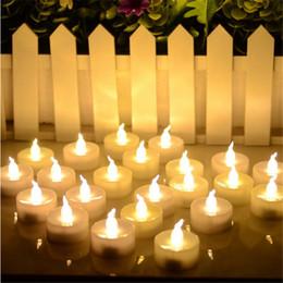 Wholesale Amber Glow - 24pcs Mini Warm White velas led decorativas Cool White bougie led Amber Glow vela de led Small candele kaarsen with battery