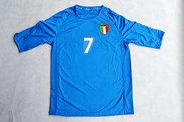 Wholesale Italy Home - Retro jerseys 2002 02 World cup Italy home blue Del Piero  Totti  Cannavaro  Vieri   Maldini jersey shirt