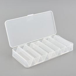 Wholesale Plastic Fishing Tackle Box - Wholesale- Plastic 14 Compartments Double Sided Spinner Fly Fishing Tackle Box Storage Tool Fish Hard Debris Cases Multi-function