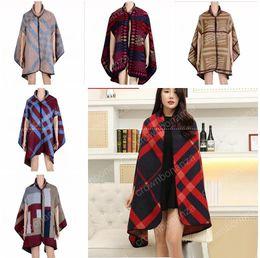 Wholesale Thick Winter Blankets - fashion Women winter faux cashmere pashmina shawl 2017 boho style plaid thick warm blanket poncho feminino inverno scarves and stoles