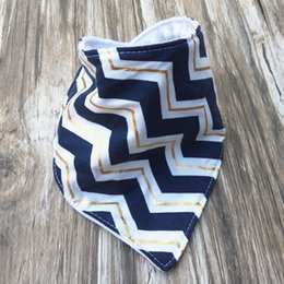 Wholesale Wholesale Baby Chevron Scarves - Chevron Baby Bibs Cotton Children Clothing Infant Towel Bandanas Kids Scarf Headbands For Boys and Girls, 100PCS