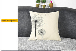 Wholesale polyester filled pillows - Hot sales zakka thin linen cheap cushion pillow(not including insert filling) for sofa  home decoration coffee shop office