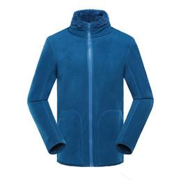Wholesale Women Thicken Fleece Warm Coat - Wholesale-2016 New Hiking Jacket Men Women Winter Fleece Jacket Windproof Antistatic Warm Coat Outdoor Thicken Reversible Wear Jacket