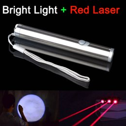 Wholesale Laser Pointer Light Pen 1mw - Waterproof Combo PRO 2IN1 1mw RED LASER POINTER SUPER BRIGHT LED LIGHT MINI LAZER PEN 300LM Free shipping