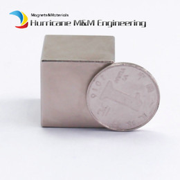 Wholesale Neodymium Iron - 1 Pack N42 NdFeB Block 25x25x25 (+ -0.1)mm Iron Filter Magnet Bar Strong Neodymium Permanent Magnets Rare Earth Lifting Magnets