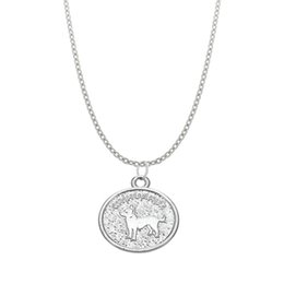 Wholesale Chihuahua Party - Chihuahua Necklace Dog Pet in Round Pendant Charm Kid Teen Jewelry Women Jewelry