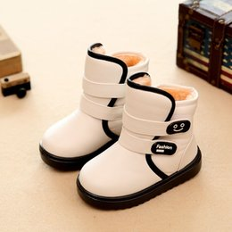 Wholesale Snow Boots For Kids Waterproof - 2016 new fashion kids boots for girl and boy baby snow boots children winter thicken Waterproof boots shoes toddler child warm