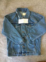 джастин бибер куртки Скидка Fall-Hip Hop Distress Jacket Justin Bieber Original Style Fear Of God Denim Blue Stage Outfit Mens Quality  Clothing