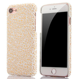 Wholesale Iphone Cover Palace Flower - Fashion Palace Flower PC Hard Case For Iphone 7 7PLUS 7G I7 6 6S Plus I6 Bling Gold Colorful Veneer Gluing Cell phone Shell Skin Cover 50pcs