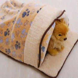 Wholesale Dual Pet Beds - Pet Dog Cat Dual Warm Winter Sleep Bed House Nest Sleeping Print Velveteen Cheap een fabric