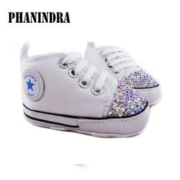 Wholesale Toddler Shoes Rhinestones - Wholesale- princess rhinestone pink baby Shoes handmade AB rhinestone Crystal baby toddler bling bling shoes lovely fashion baby girl shoes