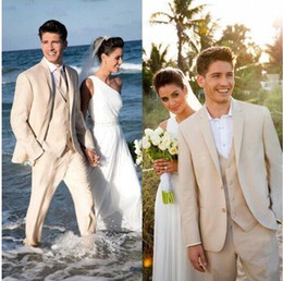 Wholesale High Quality Tuxedos - Custom Made Three Pieces Groom Tuxedos (Jacket+Vest+Pants) High Quality Two Buttons Men Wedding Party Suits Groomsmen Bridegroom Suits