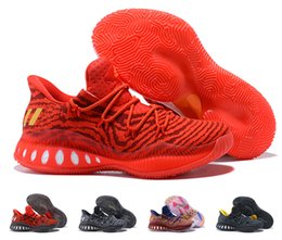 Wholesale Crazy Leather Shoes - New Arrival 2018 Crazy Explosive Low Men's Basketball Shoes Red White Black Andrew Wiggins Crazy Explosive Youth Wall 3 Boost Sport Sneakers