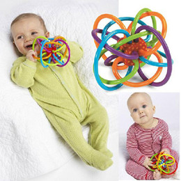 Wholesale Grasping Toy - Manhattan Toy Winkel Rattle And Sensory Activity Tool Baby Teether Toy Sturdy Teeth Grasping Hand Bell Toys
