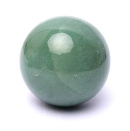 Wholesale Natural Crystal Ball Sphere - 32mm NATURAL green Aventurine Jade CRYSTAL Sphere ball HEALING