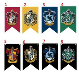 Wholesale Flags Wholesale - 75*125cm Harry Potter Gryffindor Hufflepuff Slytherin Ravenclaw Flag Hogwarts College Flag Home Decor Polyester Banner G128