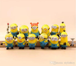 Wholesale Despicable Minion Plush Wholesale - 12PCS Set Despicable Me 2 Minions in Action Figures Minions Toys Doll New cheap Toy Lovely Plush Toys