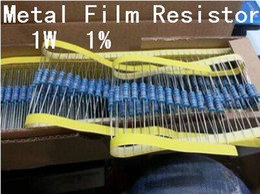 Atacado-50PCS 1W Metal Film Resistor + -1% 1W 1R 1 OHM Frete Grátis de