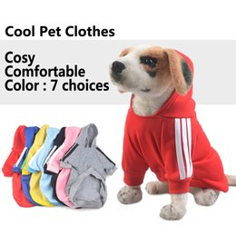 dog hoodie large Promo Codes - 7 Colors Autumn Winter Pet Clothes Product Supply Large Dog Coat Hoodie for Small Dogs Chihuahua Puppy Suit Pet Supplies XS-XXL