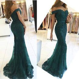 7176c40c15a Off Shoulder Evening Dresses Party Mermaid Women Turkish Ladies Formal  Floor Length Lace Applique Evening Gowns Dresses