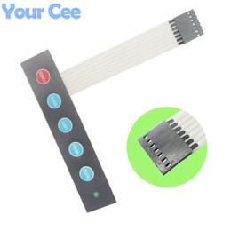 schalttastatur Rabatt Wholesale-1x5 5 Key Matrix Membranschalter Tastatur Bedienfeld Display Schalter mit LED