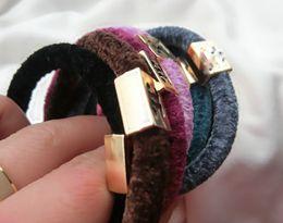 Wholesale U Choose - Letter design hair elastic hair rope women and girls cashmere ponytail holder 24pc lot 5 color U choose