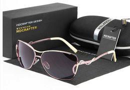 Модный бренд HDCRAFTER Поляризованные женские солнцезащитные очки Al Mg Alloy frame Спортивный досуг Дизайнер защитит вождение Украсить противобликовые очки cheap drive protect от Поставщики защищать диск