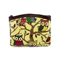 Wholesale Owl Leather Bag - Wholesale- Cute Owl Coin wallet Women coin purse Patent leather wallet change purse Ladies clutch zipper coins Keys bag Female money Pouch